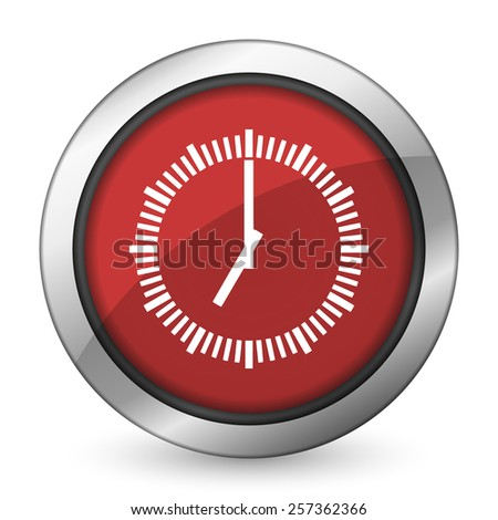 time red icon clock sign