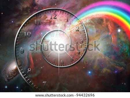 Time space - stock photo