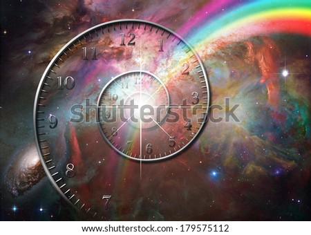 Time space Elements of this image furnished by NASA - stock photo