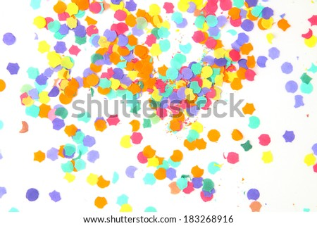 Time to celebrate: confetti isolated on a white background - stock photo
