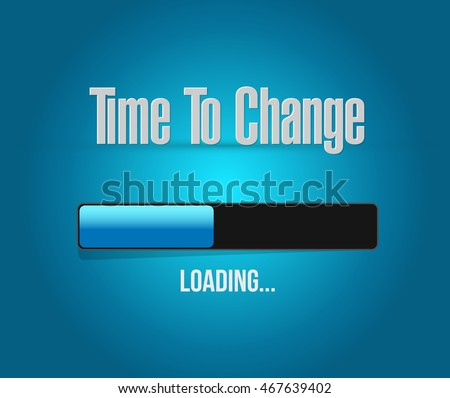 time to change loading bar sign isolated concept illustration design graphic