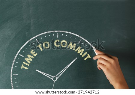 Time to Commit - stock photo