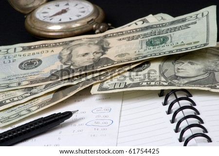 Time to control expenses - stock photo