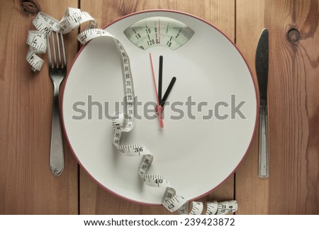 Time to diet - stock photo