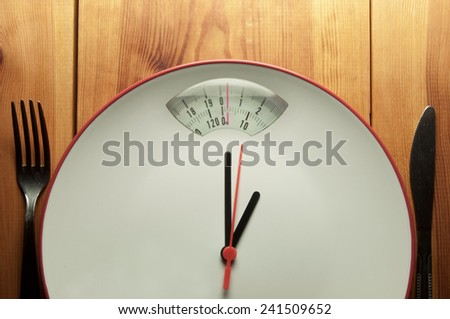 Time to diet concept  - stock photo