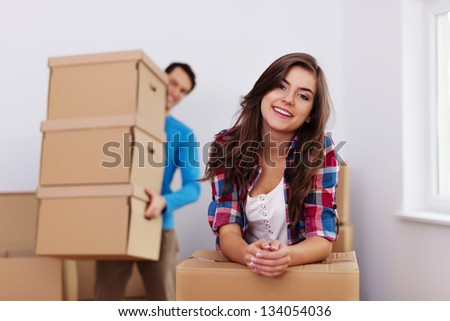 Time to moving in new home - stock photo
