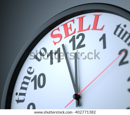 Time to Sell , 3d render - stock photo