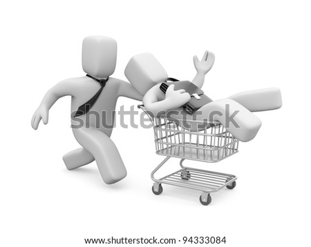 Time to shopping. Image contain the clipping path - stock photo