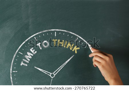 Time to Think Concept on Blackboard - stock photo