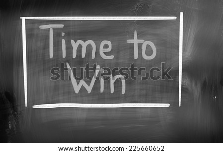 Time To Win Concept - stock photo