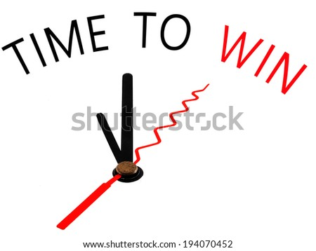 Time to win with clock concept - stock photo