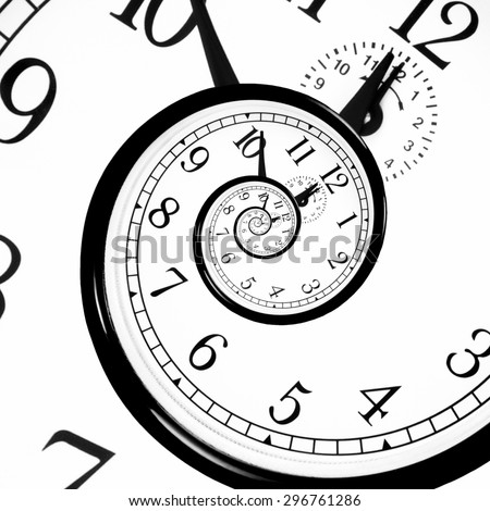 Time Warp - Time Dilation. Quantum mechanics meets general relativity. - stock photo