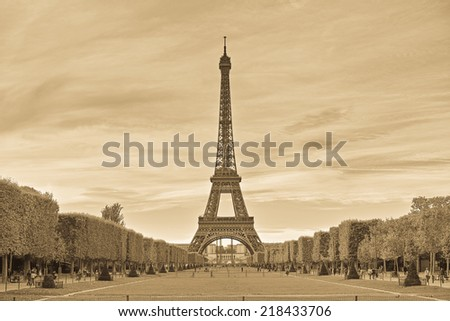 Timeless Eiffel tower - stock photo
