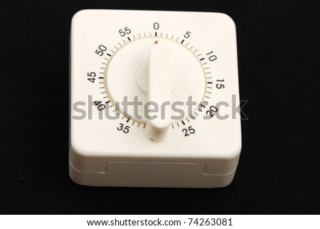 timer set on colorful background - stock photo