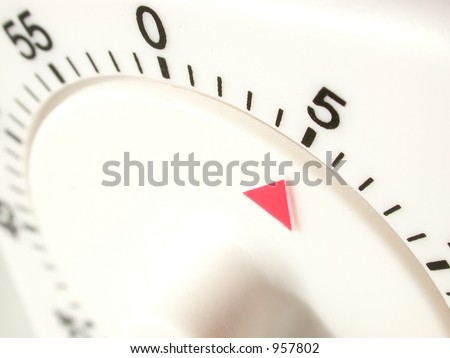 timer set with 5 minutes to go - stock photo