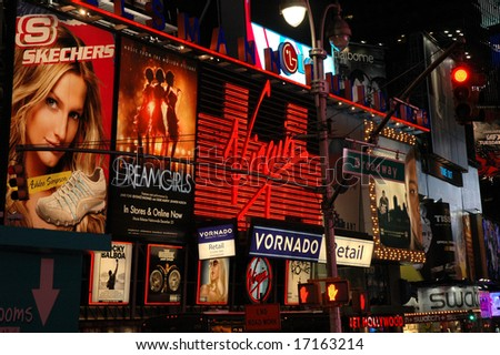 Times Square Billboards - stock photo
