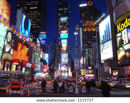 Times Square in Manhattan, NY - stock photo