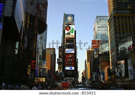 Times Square, NYC - stock photo