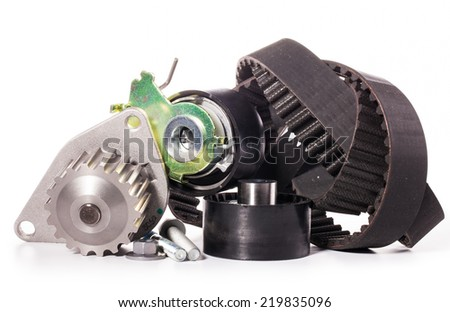 timing belt auto parts - stock photo