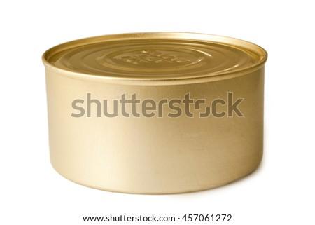 Tin Can Conserve Metallic Box - stock photo