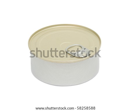 Tin can, isolated on a white background - stock photo