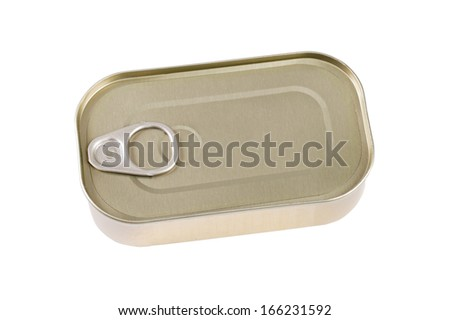 Tin can isolated on white. - stock photo