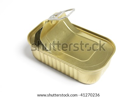 Tin Can on Isolated White Background - stock photo
