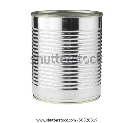 Tin Can on white,isolated with path - stock photo