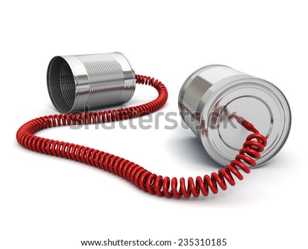 Tin Can Phone Wired Cable Stock Illustration 235310185 - Shutterstock