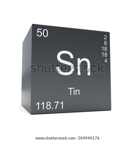 Chromium chemical element symbol periodic table stock illustration tin chemical element symbol from the periodic table displayed on black cube 3d render urtaz Images