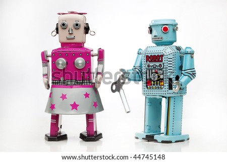 tin robots couple