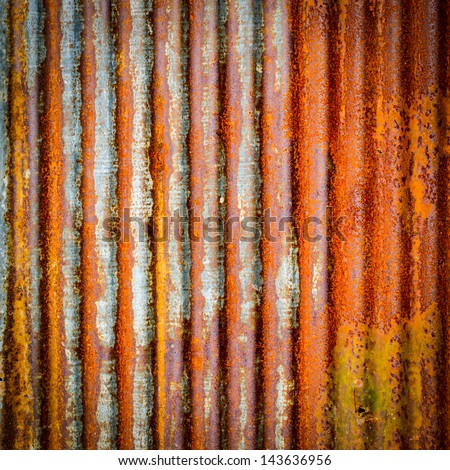 Tin Roof abstract rusty in the garden area - stock photo