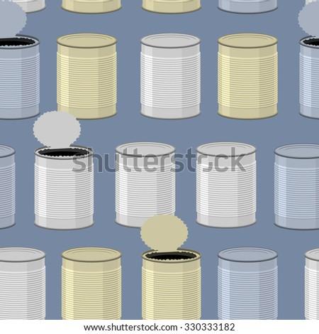 Tin seamless pattern. Color Tincan background. - stock photo
