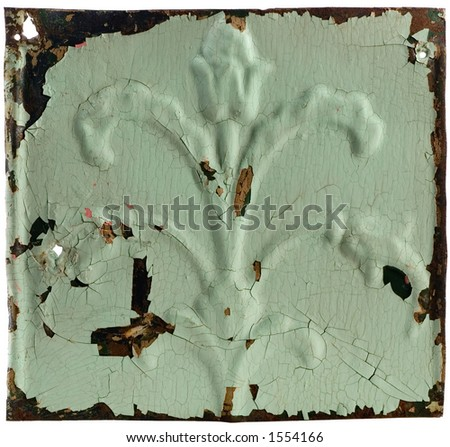 Tin wall pannel with design - stock photo