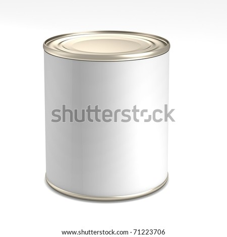 Tin with blank label