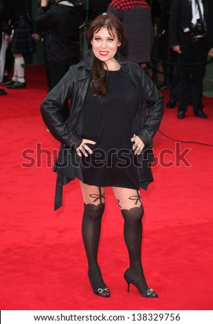 Tina Malone arriving for the TV BAFTA Awards 2013, Royal Festival Hall, London. 12/05/2013