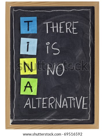 tina there is no alternative phrase attributed to margaret thatcher white chalk