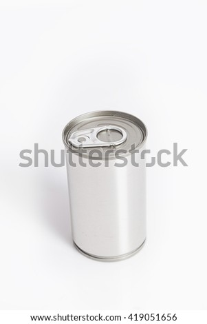 Tincan Ribbed Metal Tin Can, Canned Food.