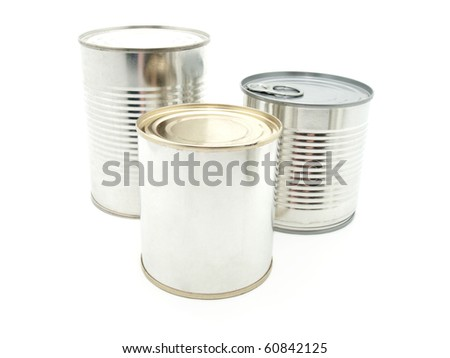tinned food - stock photo