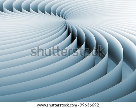 Tinted background screen of curved three dimensional geometric lines