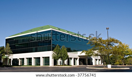 Tinted Glass Building - stock photo
