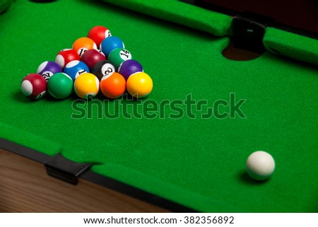Tiny billiards game toy