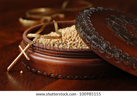 Tiny Mustard Seeds Symbol Faith Decorative Stock Photo Royalty Free