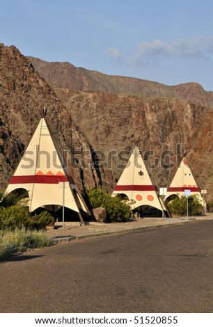 Tipi Picnic Area, Big Bend Ranch State Park, Texas Vertical With Copy Space - stock photo