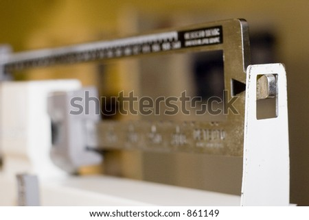 tipped the scales weigh in - stock photo