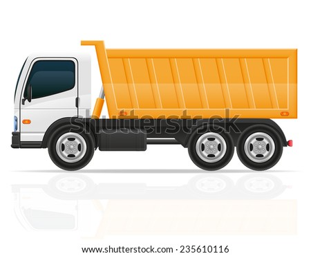 tipper truck for construction illustration isolated on white background - stock photo