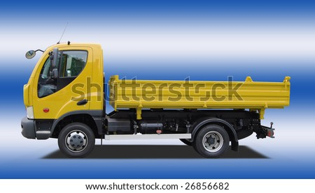 Tipping lorry - stock photo