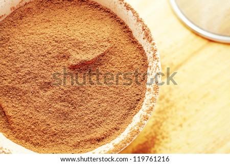 Tiramisu - Traditional Italian dessert with Cinnamon and Coffee - stock photo