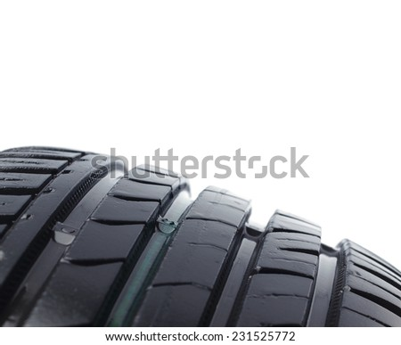 Tire isolated         - stock photo