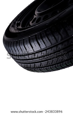 tire isolated on white background - stock photo